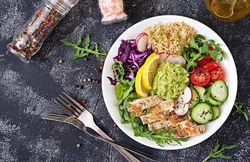 ירקות, חלבונים וסיבים תזונתיים