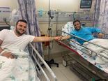 עידו (מימין) וישי בבית החולים