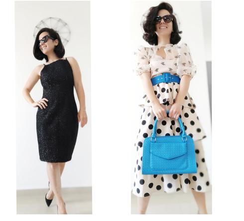 משמאל:  שמלת ערב שחורה ומנצנצת שנלבשה פעם אחת בשלוש שנים!