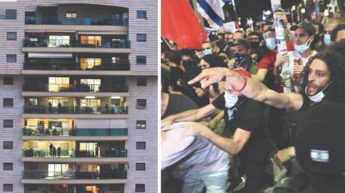 המורל הגבוה של המרפסות (משמאל) התחלף במחאה וייאוש