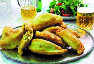 סמבוסק עיראקי במילוי חומוס