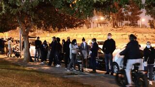 באר שבע, שכונת נווה זאב. מאות ממתינים בתור לבדיקת קורונה