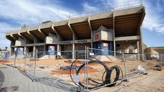 העבודות בסמוך לאיצטדיון