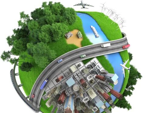 הופכים מרחבים פתוחים לשטחים בנויים, כבישים ותשתיות