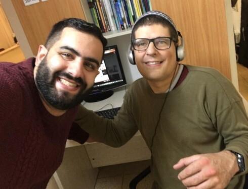 ג'מאל פאהום עם החבר איתי אזר, בית גנים ירושלים
