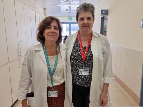 """ד""""ר קורן מיכוביץ (מימין) וד""""ר דורית בליקשטיין"""