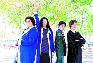 הבמה שלהם. עלמה אורליאנסקי, ליאם פלדמן, שיראל סקונדה, זהר ברלל | צילום: דפנה קופל