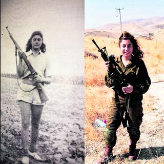 """סמל קורל דהרוס וסבתא שלה   צילום: דובר צה""""ל"""