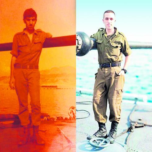 """רב""""ט בן משה ואביו   צילום: דובר צה""""ל"""