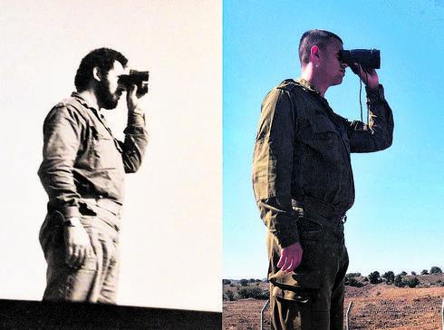 """סמל עדי פסח וסבא שלו   צילום: דובר צה""""ל"""