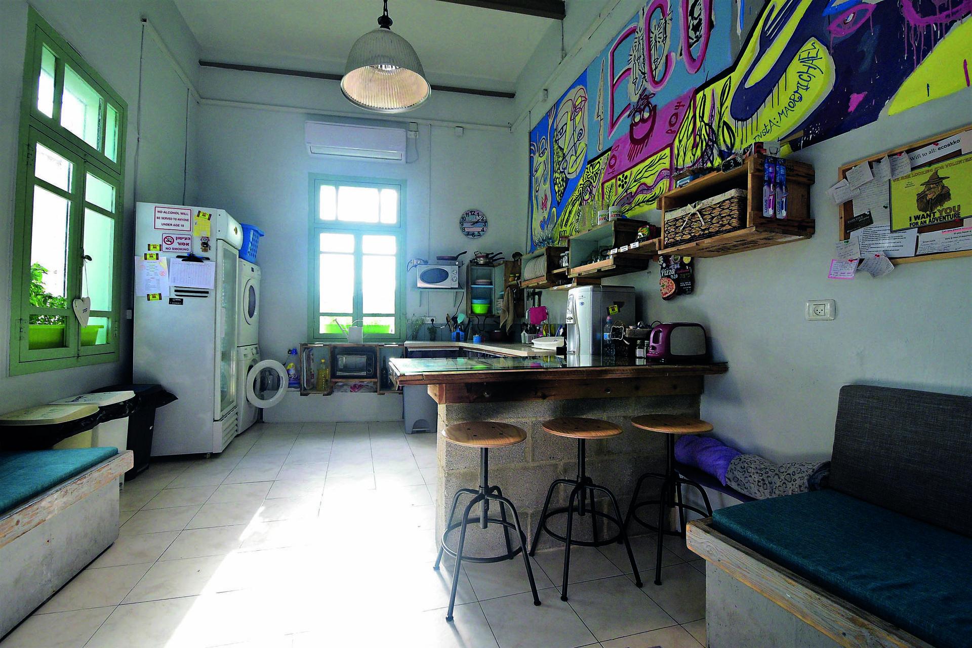 המטבח לשירות דיירי האכסניה | צילום: נחום סגל