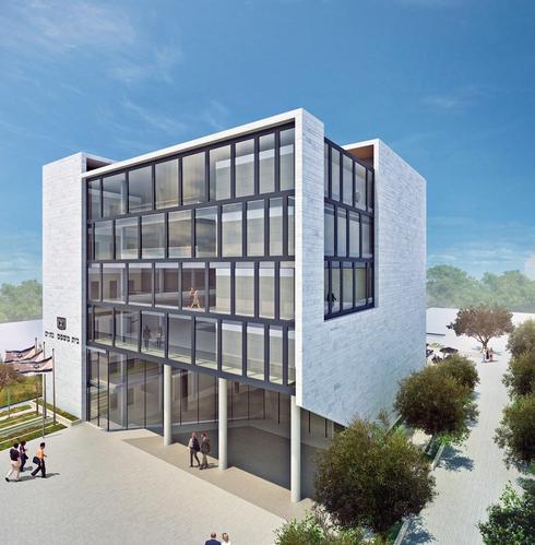 הדמיית בניין בית המשפט: אמר קוראל אדריכלים