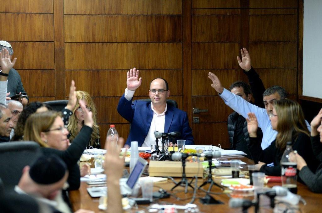 ישיבת מועצת העיר בת ים | צילום: קובי קואנקס