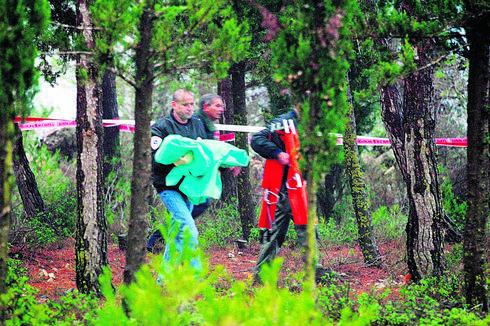 זירת הרצח, יער עמינדב   צילום: סבסטיאן שיינר